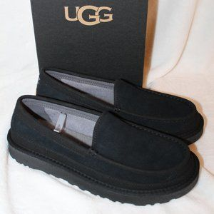 NEW MEN'S DEX SUEDE SHEARLING SLIPPERS BLACK
